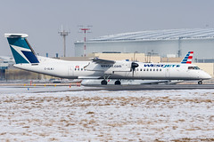 Westjet_Dash8-Q400_C-GLWJ_YYZ_FEB19 (Jonas_Evrard) Tags: aviation airport aircraft airplane airliner spotting spotter photography planespotting plane planes planespotter