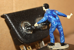 """""""Click"""". Flickr Friday. (Yesteryear-Automotive) Tags: airfix racing car set mechanic motorcar switch click flickrfriday"""