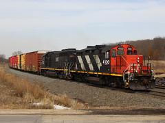 CN L50881-14 (Tunnel Blanket) Tags: cn canadiannational gp9rm l508 byron wisconsin waukeshasub