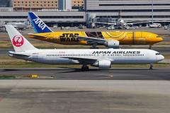 Japan Airlines Boeing 767-346(ER) JA657J (Mark Harris photography) Tags: spotting hnd haneda tokyo jpn canon 5d