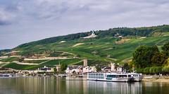 Rudeshiem am Rhine (jaygraysydney) Tags: fujifilm xt2 xf1855 captureone nikcollection germany rhine niederwalddenkmal kdrhine vinyards riverboat