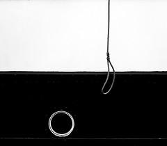 Ship rope (MortenTellefsen) Tags: ship rope bw blackandwhite blackandwhiteonly monochrome abstract abstrakt rep skip svarthvitt