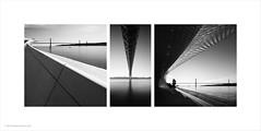 Bridge Triptych (Ian Bramham) Tags: rivertargus suspensionbridge lisbon 25deabril triptych