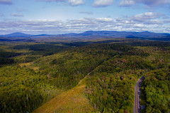 Above the Foliage (Northern Wolf Photography) Tags: autumn clouds dji drone fall forest mountain mountains phantom3 powerlines road sky standard trees woods woodford vermont unitedstates us