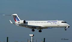 Bombardier  CRJ700 ~ F-GRZI  Air France (Aero.passion DBC-1) Tags: spotting cdg 2009 dbc1 david biscove aeropassion avion aircraft aviation plane airport bombardier crj700 ~ fgrzi air france