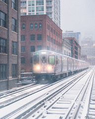 JOYRIDE (Nenad Spasojevic) Tags: train white nenad nenografiacom sony joyride buildings chi brownline building city sonyimages blizzard 2019 windycity spasojevic a7rii metro snow tracks exploration architecture explore sonyalpha perspective snowstorm snowfall nenadspasojevicart light chicago illinois il usa