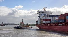 Kiel Canal / Nord-Ostsee-Kanal / Brunsbüttel (peterkaroblis) Tags: nordostseekanal kielcanal hafen harbour germany schiff ship wasser wolken water clouds
