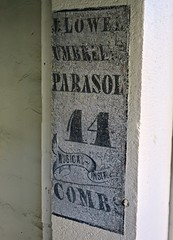 Ghost Sign, Bangor, ME (Robby Virus) Tags: bangor maine me ghost sign signage jlowel umbrella parasol 14 musical instruments combs