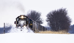 Fresh Tracks (Seven Tracks Photography) Tags: drei 101 railroad train track camargo illinois furx5551 eastbound snow manifest photography outdoor locomotive freight