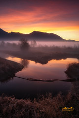 Ground Clouds (erwin.delfin_photography) Tags: pittlake sunrise landscape waterscape reflections fierysky purplesky beautifulbritishcolumbia beautifulvancouver mustbevancouver canada canon5dmarklll canon1635mmf28 fog foggy foggymorning mist clouds