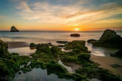 Sunrise in Portugal (martintimmann) Tags: sony7r2 sony blue orange beach loxia2821 sunrise portugal loxia zeiss e available light landscape carlzeiss longexposure