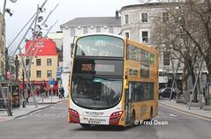 Bus Eireann VWD42 (151C7159). (Fred Dean Jnr) Tags: buseireannroute205 gemini3 buseireann volvo b5tl vwd42 151c7159 grandparadecork february2019 wrightbus wright cork alloverad todayfm