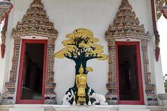 Entrance at Buddhist Temple, Bangkok, Thailand. (Manoo Mistry) Tags: bangkok thailand nikon nikond5500 tamron tamron18270mmzoomlens holiday temple buddhist buddhism buddhisttemple