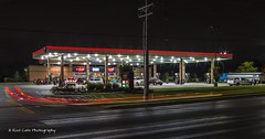 Your Local Gas Station (Kool Cats Photography over 11 Million Views) Tags: gasstation gas fillingstation oklahoma oklahomacity outdoor nightshot longexposure lighttrails route66 lighting lines streetphotography street architecture artistic lights