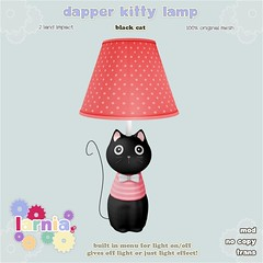 larnia-dapperkittylampblackcat-ad (rory larnia) Tags: secondlife mesh kitty lamp larnia kids home decor