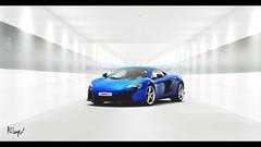 McLaren 650S (at1503) Tags: britishcar blue white light bright indoors corridor bluecar supercar mclaren 650s mclaren650s colour uk england gtsport granturismo granturismosport motorsport racing game gaming ps4