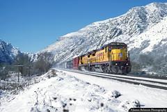 Dashing Dash 8s (jamesbelmont) Tags: unionpacific taggart devilsslide webercanyon ogcy railroad railway locomotive ge c408 canyon evanstonsubdivision