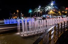 Almeria. Detalle del puerto (MTorresTortosa) Tags: almería fountain fuente nocturna night andalucía españa spain largaexposición longexposure