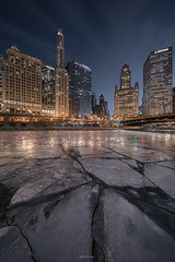 GLITTER BOX (Nenad Spasojevic) Tags: sonyimages explore urban voigtlander sonyalpha winter exploration cityscape nenadspasojevic nenadspasojevicart sony pointofview reflections a7rii longexposure rooftoping night urbanexploration frozenriver 2018 cold city heliar perspective bridge symmetry ice downtown glitterbox river lines rooftop chicago illinois il usa