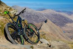Mountain Bike, at the top of a Mountain (Elliot Hyndman) Tags: mountain snowdon wales northwales mount snowdonia lake reservoir reflections sheep bike nature landscape nikon nikond7200 sigma art 24105 sigma24105