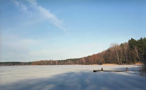 Скованное льдом озеро / Frozen lake