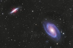 M81 and M82 Galaxies in Ursa Major (Daniel McCauley) Tags: m81 m82 bodes bode cigar galaxy galaxies ifn integrated flux nebula nebulae astrophotography astropix astrophoto takahashi ursa major constellation astronomy pixinsight spring nightphotography steelmantown sjac belleplain state forest