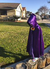 Gothing To School (evaxebra) Tags: luna raven goth cloak purple school walk morning