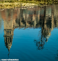 reflejos dorados (K@moeiras) Tags: kamo salamanca tormes españa catedral rio reflejo