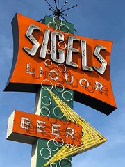 Sigel's Liquor (jericl cat) Tags: sigels liquor dallas googie arrow bubbly animated sputnik satelite beer