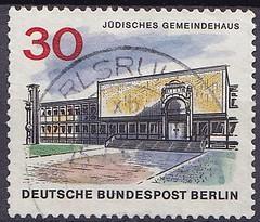 Deutsche Briefmarken (micky the pixel) Tags: briefmarke stamp ephemera deutschland bundespost berlin gebäude building jüdischesgemeindehaus charlottenburg fasanenstrase