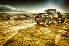 DSC_7011 copie (C&C52) Tags: paysage landscape désert pickup épave artnumérique
