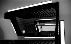 _ _ _  angularly  _ _ _ (christikren) Tags: austria architecture blackwhite bw christikren dark contrast hotel graz stairwell staircase lines abstract light white angularly absoluteblackandwhite