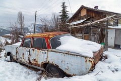 Anatolia series. (RKAMARI) Tags: 2017 anatolia ankara abandoned car frozen landscape outdoor rural snow travel village winter flickrsbest