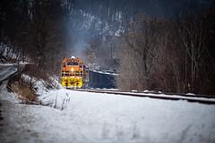BPRR Winters (benpsut) Tags: bp bprr bprr3345 buffaloandpittsburgh buffaloandpittsburghrailroad csx csxmonsub csxt elizabeth snow winter coal low railroad trains