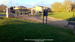 Gates of Coneygear Park (From inside), Huntingdon 17th March 2019 (D@viD_2.011) Tags: gates coneygear park huntingdon 17th march 2019