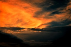 Creation (Juan Paz V) Tags: sunset clouds sky red dark storm afternoon yellow
