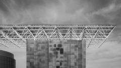 Lattice (Nick Condon) Tags: 16x9 20mmpancake abstract architechture cloud dulles olympusep1 udvarhazy absoluteblackandwhite olympus