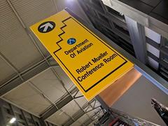 Robert Mueller conference room sign, Austin Airport, Austin, Texas, USA (gruntzooki) Tags: robertmueller sign signs airport sxsw texas austin tx aviation airports
