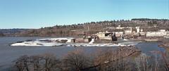 Oregon City Falls pano (Kent C.) Tags: mediumformatfilm epsonv600scanner kodakportra160 6x7 mamiyarb67pros 120film panorama oregon