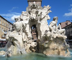 Fountain of the Four Rivers, Piazza Navona, Rome (David Lown) Tags: piazzanavona fountain bernini fontanadeifiumi fountainofthefourrivers