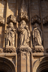 Sint-Baafskathedraal, Gent (itmpa) Tags: ghent eastflanders belgium be sintbaafskathedraal saintbavoscathedral cathedral 10thcentury entrance doorway statue statuary stone gent archhist itmpa tomparnell canon6d canon 6d