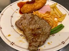 lunch (Hideki Iba) Tags: iphone beef lunch umeda osaka japan food