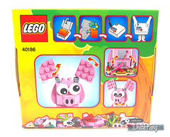 Back view of the original box image of the 40186 Year of the Pig (WhiteFang (Eurobricks)) Tags: lego chinese new year cny exclusive asia pacific festive season culture asian red packets family grandparents father mother children living room house interior exterior lantern happiness blessing dragon dance pig show chingay performance