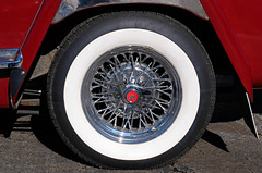 Willys Wheel (Colorado Sands) Tags: stpatricksparade denver colorado parade irishparades festive event stpats us americanparades usa america sandraleidholdt march 2019 stpatricksdayparade stpatricksday american parades unitedstates celebration wheel tire willys jeepster hubcap whitewall w v6 127211 willysoverland 1949