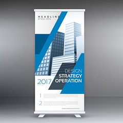 blue business roll up standee banner template design (albanfeti) Tags: banner brochure abstract template marketing presentation promotion corporate professional rollup stand commercial identity modern company business sale advertising roll up layout poster print board display standee stationery