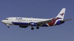 C-FLRS_LAS_Landing_26L_Side (MAB757200) Tags: flairairlines b737490 cflrs aircraft airplane airlines airport jetliner landing las klas boeing runway26l
