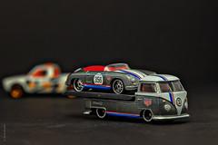 Porsche Delivery (Wade Brooks) Tags: 356 artbywadebrooks t1 jackknife pickup porsche scavengerhunt speedster thetoycarproject transporter vw