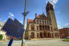Albany City Hall & plaque (cmfgu) Tags: albany ny newyork albanycounty capital albanycityhall plaque