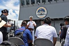 190313-N-YG414-026 (U.S. Pacific Fleet) Tags: flagship lcc19 usnavy ussblueridge kotakinabalu malaysia port media qa commandingofficer captain interview camera news my