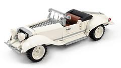 You can own this roadster! (Galaktek) Tags: galaktek lego emotion car vintage white